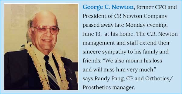 George-Newton former CPO and President of CR Newton Company
